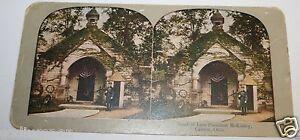 WOW-Original-Rare-1900-039-s-Tomb-Of-President-McKinley-Canton-Ohio-Stereoview-USA