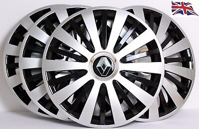 """Covers to fit Renault Clio 4x15/"""" wheel trims Hub Caps"""