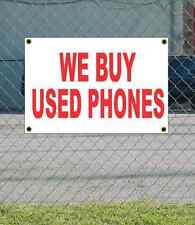 2x3 WE BUY USED PHONES Red & White Banner Sign NEW Discount Size Price FREE SHIP