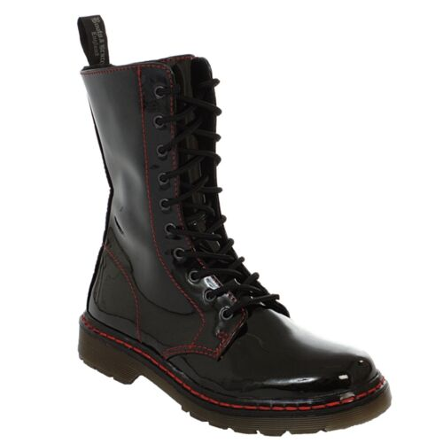 Boots /& Braces-EASY 10 fori TR Bloody brevetto Black Stivali Rangers NERO LAC