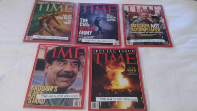 TIME APR 14 & MAR 31 & OCT 6 & FEB 3 & SEPT 1 2003