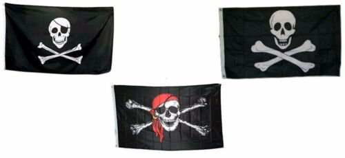 3x5 3/'x5/' Wholesale Set Jolly Roger Pirate Patch /& No Pacth /& Red Hat Flags Flag