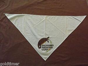 VINTAGE BSA BOY SCOUTS OF AMERICA  NECKERCHIEF CRUMHORN MOUNTAIN CAMP