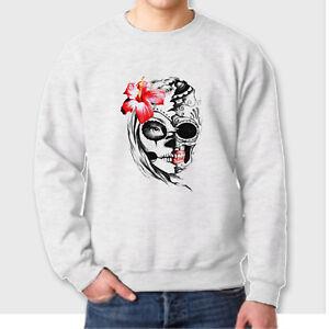 Sugar Skull Panda Crewneck Day of the Dead Dia De Los Muertos Hallo Sweatshirt