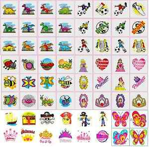 Various-Childrens-Temporary-Tattoos-Transfers-Fete-Birthday-Party-Bag-Fillers