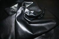 Italian Lambskin Leather skin skins hide hides medium quality BLACK 6sqf