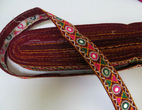 Sequince Bead Embroidery Indian Sari Border Lace Ribbon Trim Ethnic Craft 1 Feet