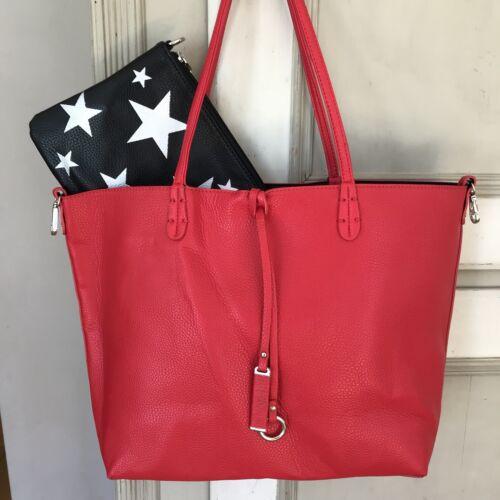 Clutch Tote Omkeerbare schoudertas tas rood Star handtas Zwart vmw80Nn