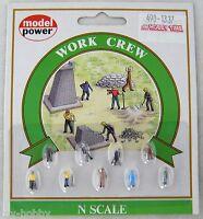 NEW Model Power Work Crew Figures 12 N 1337 Toys