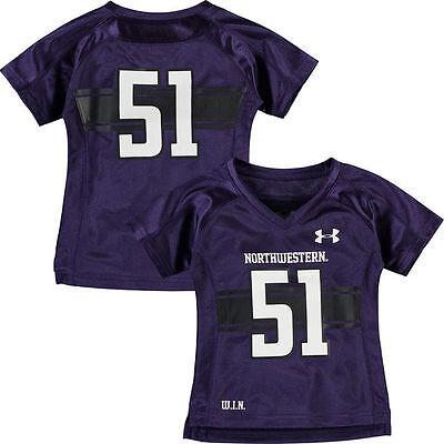 premium selection 12cc2 8865f Northwestern University Wildcats 51 Replica Football Jersey 24 Months