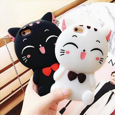 3D Cat Silicone Phone Case For iPhone X 5 6 7 8 Samsung S8 S9 Nokia LG Motorola