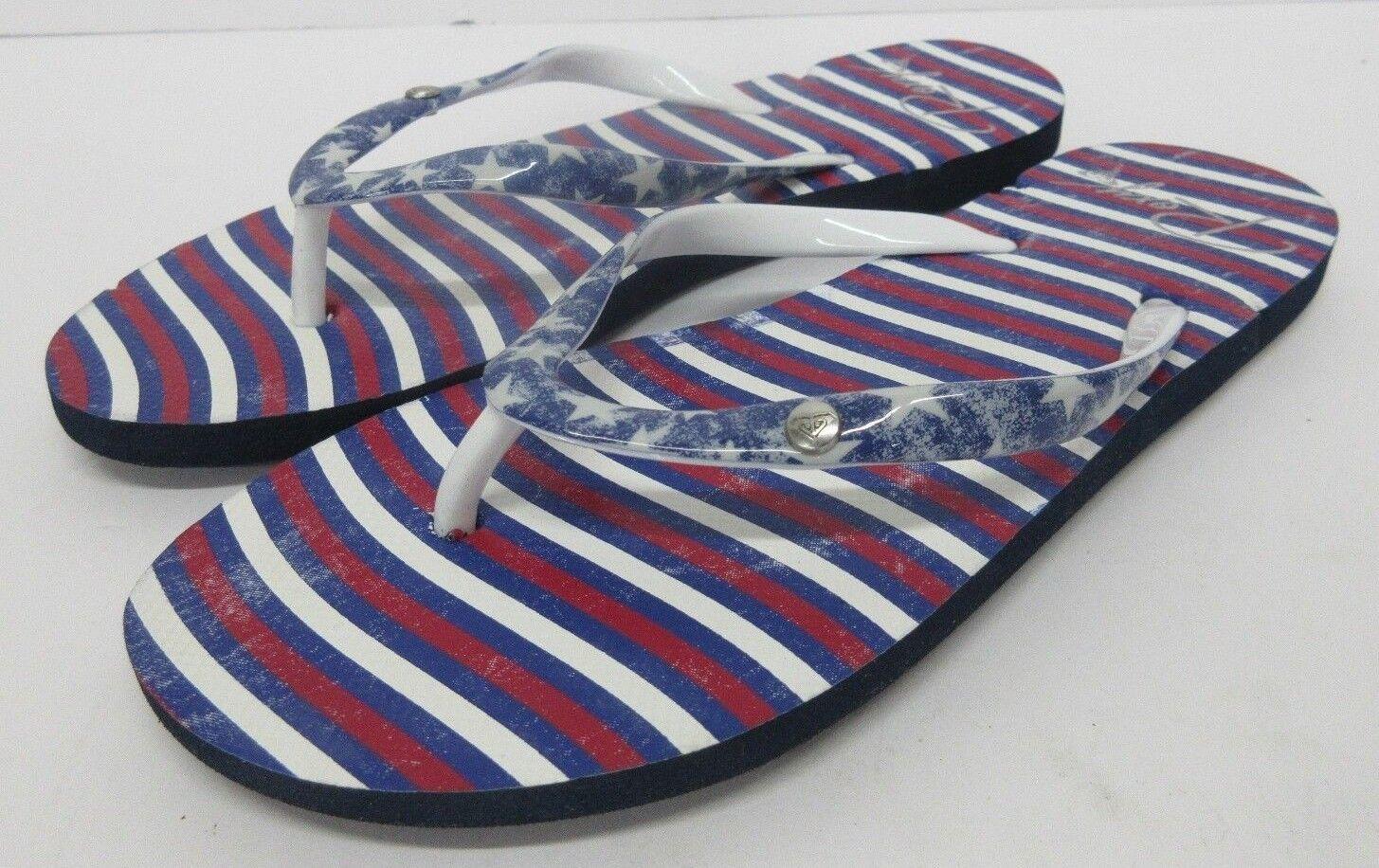 Nuovo! Roxy 'Bandiera' USA Tema Sandali Donna Infradito Rosso Bianco Blu Donna Sandali Misura: 5c19a6