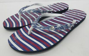 New-ROXY-039-Flag-039-USA-Theme-Sandal-Flip-Flops-Red-White-Blue-Women-039-s-Size-6
