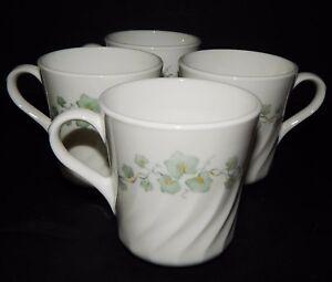 4 Corning Ware Corelle Thé Tasses à Café Tasses Callaway Ivy Blanc Swirl #14 Usa-afficher Le Titre D'origine 1vdpk7mc-07234659-204761127