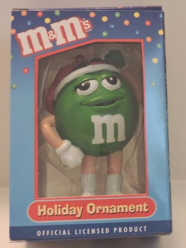 2004 M&M GREEN CHARACTER LIMITED EDITION COLLECTIBLE CHRISTMAS ORNAMENT