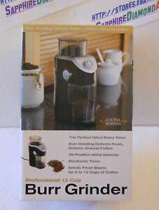 Cucina-Romana-Professional-12-Cup-Burr-Grinder-BRAND-NEW-IN-BOX