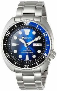Seiko JAPAN Made Deep Blue Batman Turtle Diver's Men's Watch Roman Date Wheel