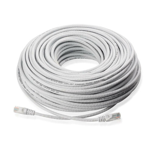 300FT Cat5e Ethernet Patch Cable RJ45 IP Network Wire Router PoE Switch Cord
