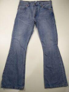 HOMME-COUPE-DROITE-LEVI-039-S-515-W32-L32-Denim-Jeans-Fonce-Bleu-Delave-Levi-Strauss