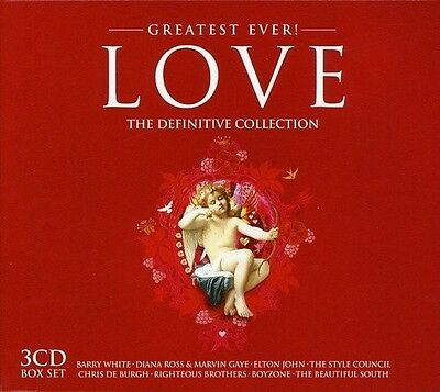 GREATEST EVER LOVE 3 CD (BARRY WHITE, ELTON JOHN, CHRIS DE BURGH UVM. ) NEUF