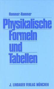 Physikalische-Formeln-und-Tabellen-von-Hammer-Hammer-Buch-Zustand-gut