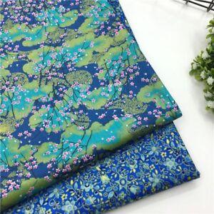 2pcs-set-50-40cm-100-Cotton-Fabric-Floral-Patchwork-Sewing-Textile-Baby-Clothes