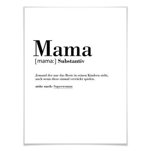 Poster Grammatik Mama