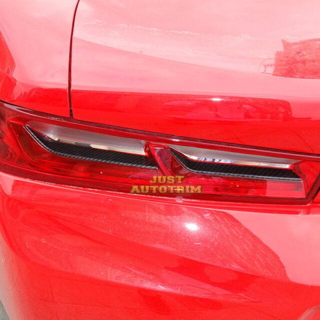 Carbon Fiber Look Taillight Cover Trims For 2016 17 Chevrolet Camaro