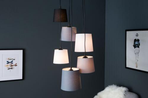 Hängelampe Pendellampe schwarz grau weiß 6er Esstischlampe Esszimmer Lampe