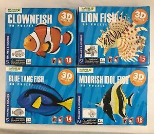 Details about 3D Model Puzzle Bundle 4x Moorish Idol Lion Clown fish Blue  tang Finding Nemo
