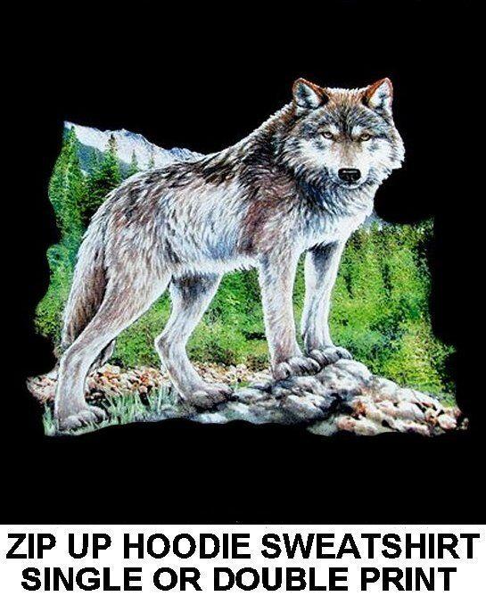 GORGEOUS SERIOUS WILD WOLF WEREWOLF WOLFMAN LYCAN ZIP HOODIE SWEATSHIRT WS88