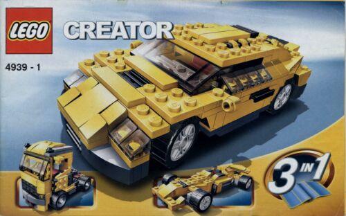 keine Steine! Lego Creator # 4939 Cool Cars 2 Hefte - Bauanleitung
