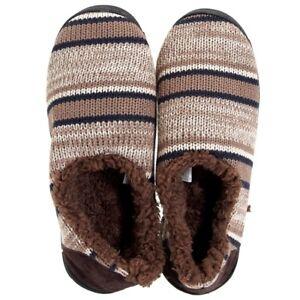 328c9c75b548c Details about Muk Luks John Mens Sherpa Lined Moccasin Indoor Outdoor  Slippers Tan Beige Brown