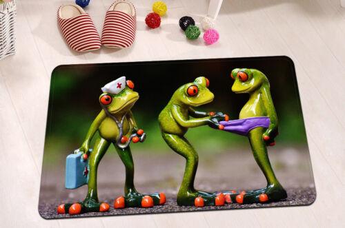 "24x16"" Non-Slip Bathroom Door Floor Decor Carpet Bath Mat Rug-Are You Crazy Frog"