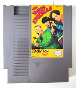 The Three Stooges ORIGINAL NINTENDO NES GAME Authentic + Tested & Working!