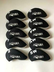 10PCS-Golf-Iron-Headcovers-for-Honma-Club-Head-Covers-4-LW-Black-amp-Black-Universal