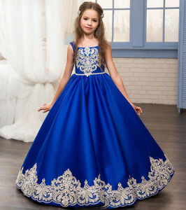 NEW Communion Party Prom Princess Pageant Bridesmaid Wedding Flower Girl Dressy@