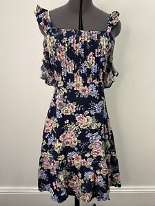 Auguste-The-Label-Floral-Dress-With-Ruffle-Details-Size-8-EUC
