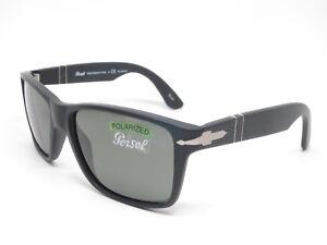4c7bcfc052058 Persol PO 3195S 1042 58 Matte Black w Green Polarized Sunglasses ...