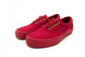 667fb73d493b Vans ERA (GOLD MONO) CRIMSON RED Canvas Casual Skate Shoes MEN 11.5 ...
