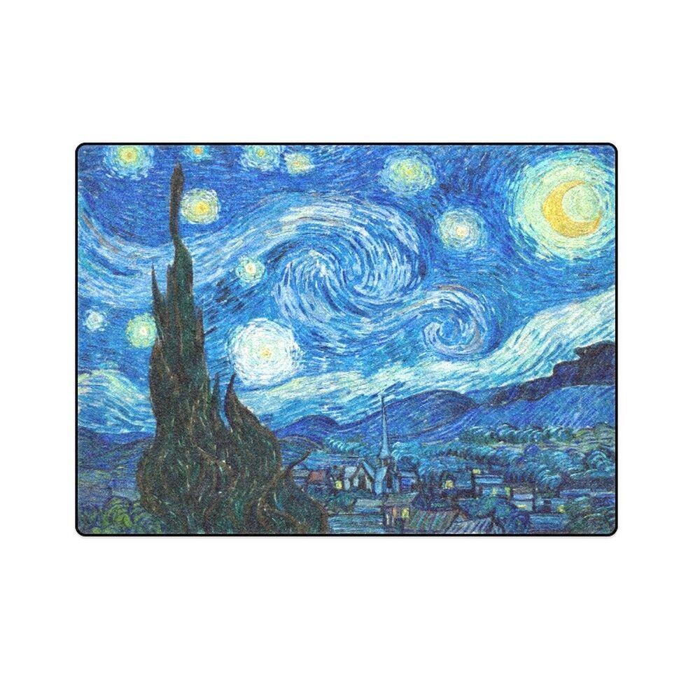 Starry Night Vincent Van Gogh Fleece Blanket One Layer 58  x 80