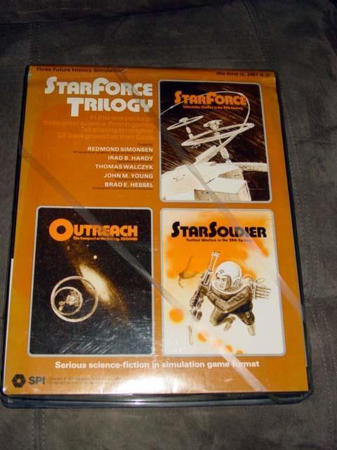 SPI 1977-Starforce Trilogía-Ciencia Ficción juego de Triple-Bandeja Plástico Plano