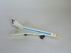 BULGARIAN-MATCHBOX-SKY-BUSTERS-TU-144-CONCORDE-SUPERSONIC-JET-EARLY-ISSUE-NM