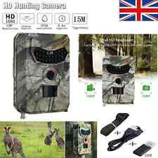 WATERPROOF 12MP Hunting Camera 1080P Trail Scouting IR Night Vision Wildlife Cam