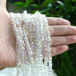 20-100x-Faceted-Cube-Crystal-Glass-Square-Loose-Beads-Jewelry-Making-4mm-6mm-8mm