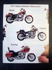 HARLEY DAVIDSON RANGE - Motorcycle Sales Brochure - 1985 - USA Print