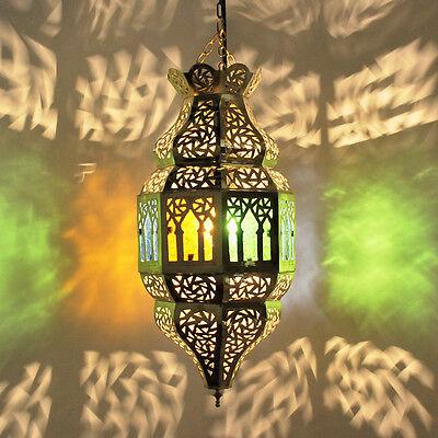 Oriental Lantern Morocco Lamp Pendant Lamp Oriental Made of Brass trombia 2