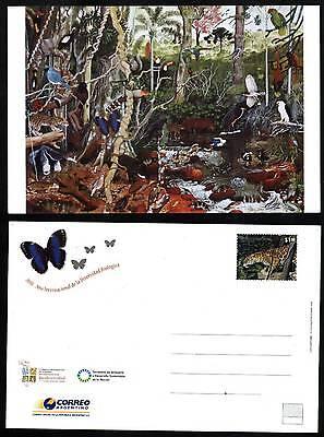 Latin America Argentina Argentina 2010 Postal Stationary Biodiversity Fauna Birds Unused