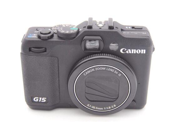 Adaptable Canon Powershot G15 12.1mp 7.6cmscreen 5x Zoom Pour Assurer Une Transmission En Douceur