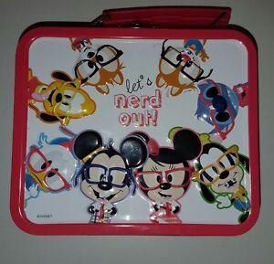 Disney Lets Nerd Out Lunch/Craft Box Mickey Donald Pluto Stitch Goofy Chipmunks